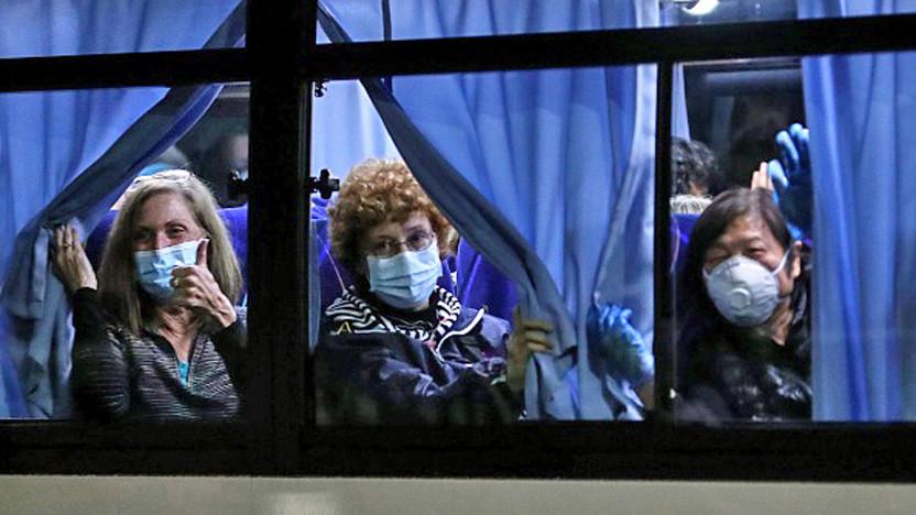 14 Cruise Ship Evacuees Landing At Travis Air Force Base Test Positive For Coronavirus