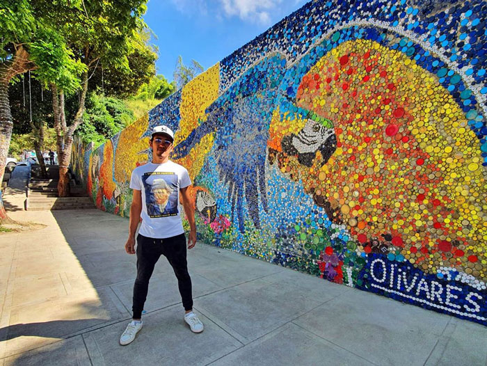 Using 200k Recycled Bottle Caps, This Young Artist Created One Of The Largest Eco-Themed Murals In Latin America
