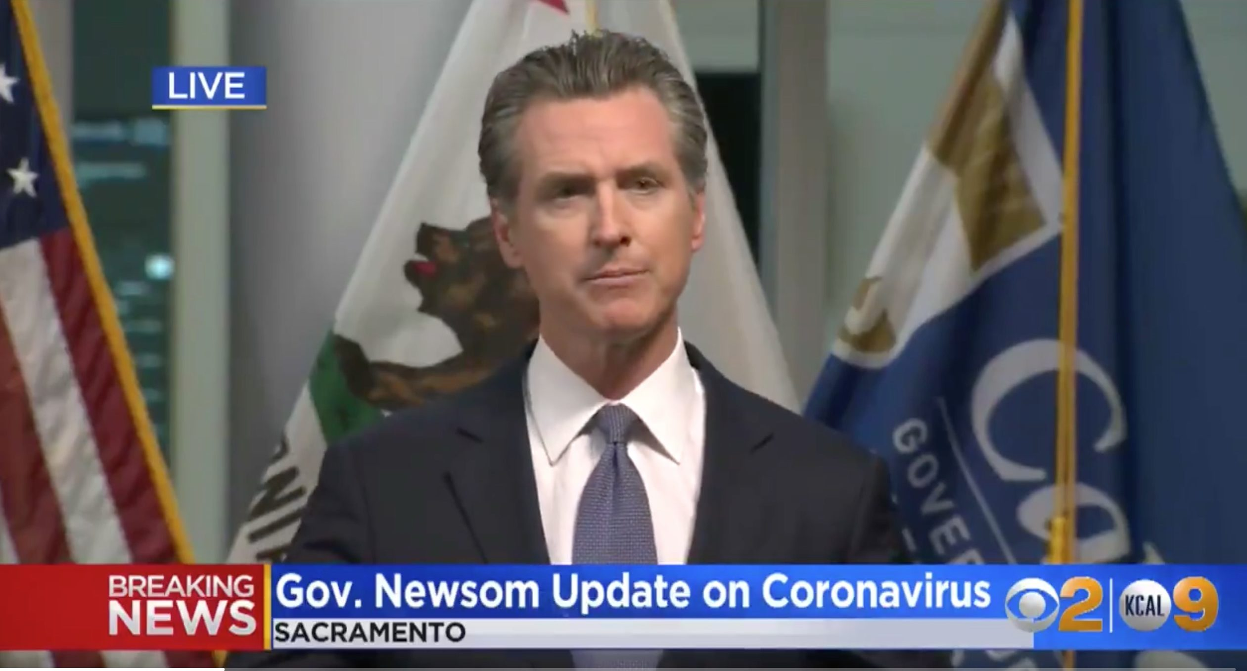 Breaking: California Gov. Gavin Newsom Issues a Statewide Stay at Home Order